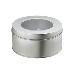 Round Tin Containers With Food Lacquer