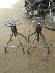 Adjustable Pipe Wooden Top Stool