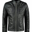 Bkack Pure Leather Mens Leather Jacket