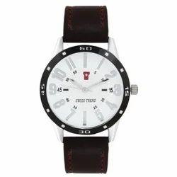 Round Casual Swiss Trend Original Elegant White Dial Mens Wrist Watch