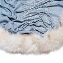 Merino Super Wool With 4 Side Fox Fur Scarves