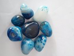 Sky Blue Onyx Pebble Stone