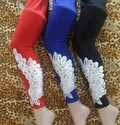 Feather Patch Leggings