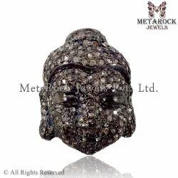 Pave Diamond Buddha Charms Pendants