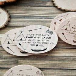 Round Engraved Wooden Coasters