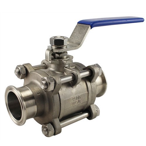 Standard Stainless Steel Tri Clover Ball Valve, Size: 1/2'  To 2' , Model Name/Number: TC End