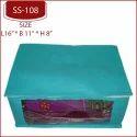 """Non Woven Box Saree Cover Garment Cover, Size: L 16"""" B 11"""" H 8"""""""