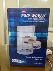 White Plastic Polyworld Bath Accessories, For Home, Size: Adjustable