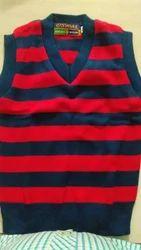 Red Unisex School Sleeveless Sweater