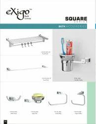 Brass Bathroom Accessories (Set of 12)