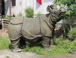 Fiber rhinosaur  Statue
