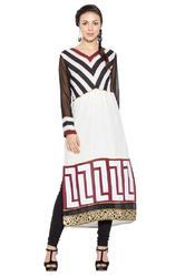 Designer Printed Casual Styling Long Kurti Kurta Suits