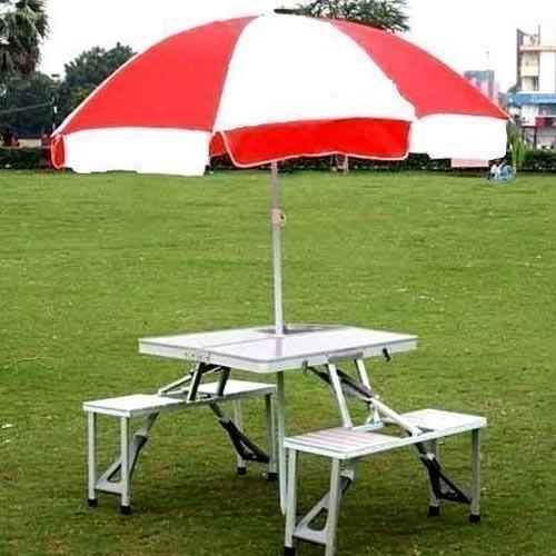 Aluminum Portable Folding Picnic Table With Umbrella At Rs 5000