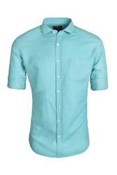 Linen Blue Wear Shirt