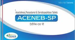 Aceclofenac Paracetamol Serratiopeptida (Acenab - Sp Tablet)