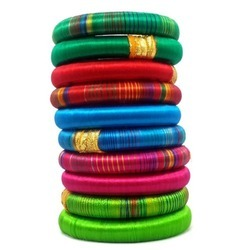 Multicolour Silk Thread Bangle