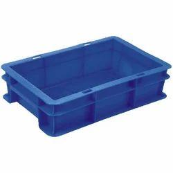 Industrial Blue Plastic Crates