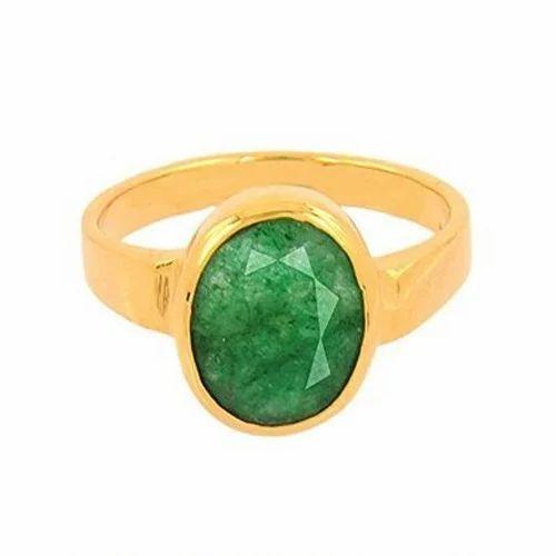 6 25ratti Emerald Ring Panna Stone at Rs 5000 piece