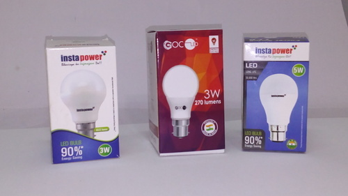 4 Color Printed Led Bulb Packaging Box 1