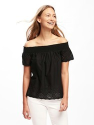 Black Off Shoulder Top