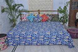 Multi Color Printed Kantha Quilt