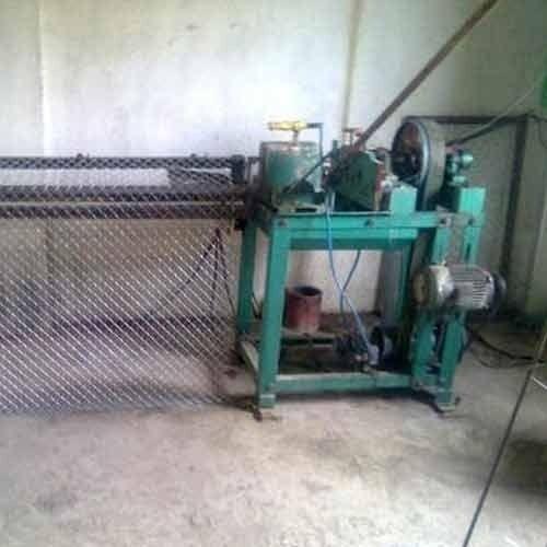 Manually Chain Link Fencing Making Machine चेन लिंक फेंस
