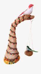Coconut Handicraft - Tree With Hanging Bird Nest