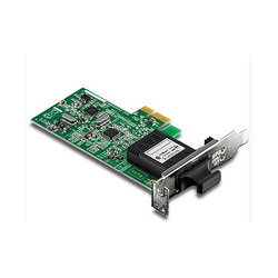 Low Profile 100 Base SC Fiber PCIe Adapter
