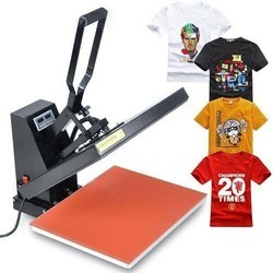 T Shirt Printing Heat Press Machine, Capacity: 1-50 pieces/hour