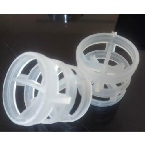 Round Natural White PVC Pall Ring