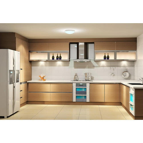 Modular Kitchen Magnon India: Melamine Modular Kitchen, मॉडर्न किचन, मॉडर्न रसोई - Baba Associates, Kanpur