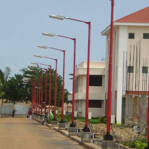 Standard Parking Lot Light Pole Height: Galvanized Steel Street Light Swaged Poles