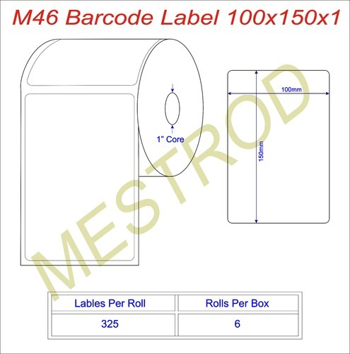 Barcode Labels Barcode Labels Size 100mm X 150mm X 1