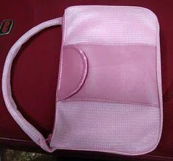 Pink Cotton Fancy Handbag