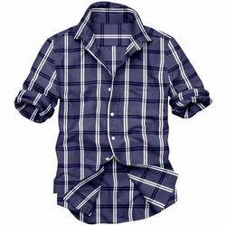 Collar Neck Casual Wear Men Readymade Check Cotton Shirt