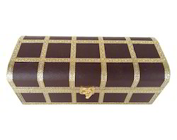 Artificial Leather Finish 1-Roll Bangle Box - Brown