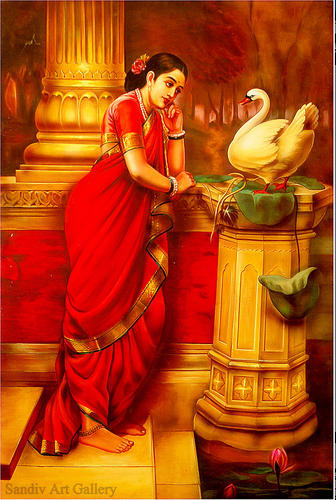 Lady holding a fruit raja ravi varma wikigallery. Org, the.
