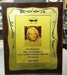 Wooden Gold Sheet Memento
