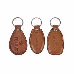 棕色大尺寸皮革钥匙扣