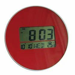 Round Digital Wall Clock