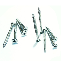 Stainless Steel Polished 2 Inch Wood Screw, Half Threaded