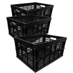 Black Plastic Crates