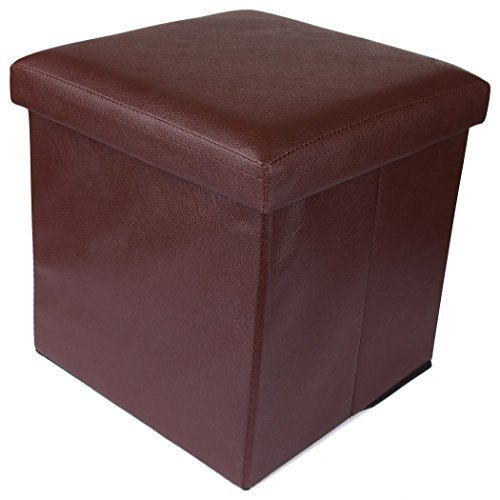 Brilliant Elegant Brown Ottoman Storage Box Cum Stool Machost Co Dining Chair Design Ideas Machostcouk