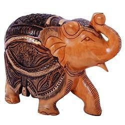 Wooden Elephant Trunk Up Wp007