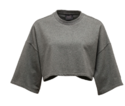 Cropped Crew Neck Womens Tee