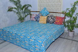Ikat Multi Color Printed Kantha Quilt