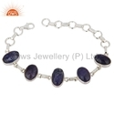 Natural Gemstone Sterling Silver Bracelet Jewelry