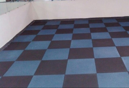 Gym Rubber Tiles, 10-15 Mm, Rs 75 /square feet IPack | ID: 20162996348