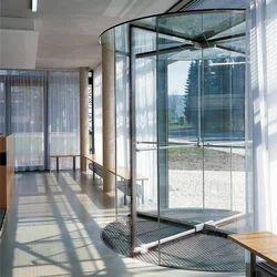 Revolving Doors Of All-Glass Design