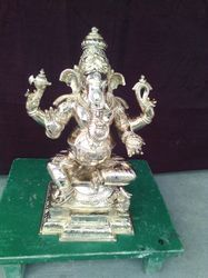 Superb Workmanship Of 14 Inch Ganesha Panchaloha Idol